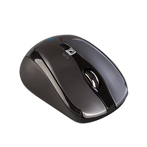 i-tec Bluetooth Wireless Maus Travel 6-Tastenmaus Wählbare Auflösung des Sensors 1000/1600 DPI 2x AAA Batterien im Lieferumfang ON/OFF-Taste ideal für Notebook Ultrabook Tablet PC, Windows Mac Linux Android Mäuse