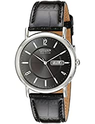 Citizen Mens Eco-Drive Stainless Steel Watch with Date, BM8240-03E