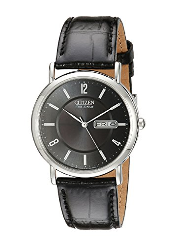 Eco Drive Black Dial Watch (Citizen Men's BM8240-03E Eco-Drive Stainless Steel Watch with Leather Band)