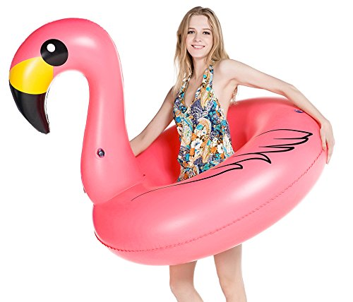 Jasonwell Giant Inflatable Flamingo Pool Float Party Tube Rapid Valves Summer Beach Swimming Pool Lounge Raft Decorations Toys Adults & Kids by Jasonwell