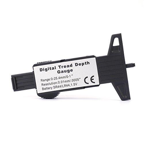 H88 Digital Tire Tread Depth Gauge Meter Measurer LCD Display Tyre Tread Brake Shoe Pad Wear Tire Tester Tread Checker for Cars Trucks SUV black 0-25mm by H88 (Image #5)