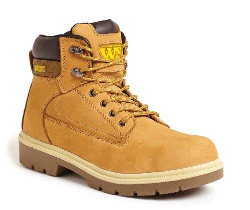 Worksite SS613SM - zapatos de seguridad de cuero unisex Amarillo - ocre