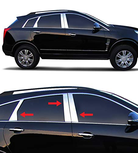 Made in USA! Works with 2010-2017 Cadillac SRX 6PC Stainless Steel Chrome Pillar Post Trim