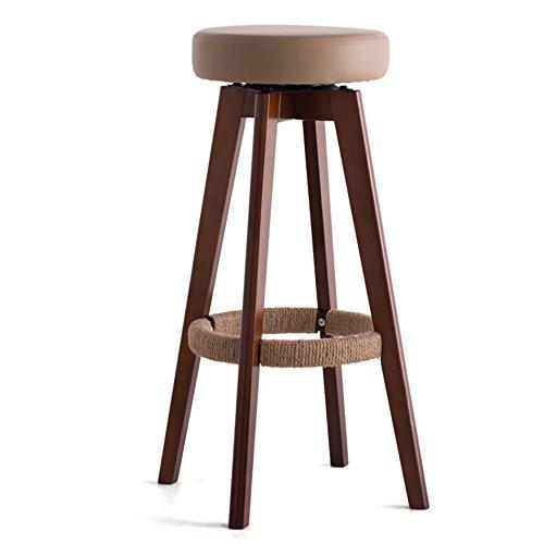 IAIZI バースツールハイスツール、ホームウッドモダンミニマルバースツール、回転する創造的なヨーロッパの椅子 (色 : A, サイズ さいず : 32cm*48cm*74cm) B07DJ57KL6 32cm*48cm*74cm|A A 32cm*48cm*74cm