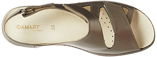 bronzo Damart Open di Brown Toe femminili Sandali REqOwBYE