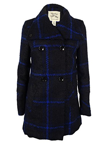 Double Breasted Plaid Coat - 7