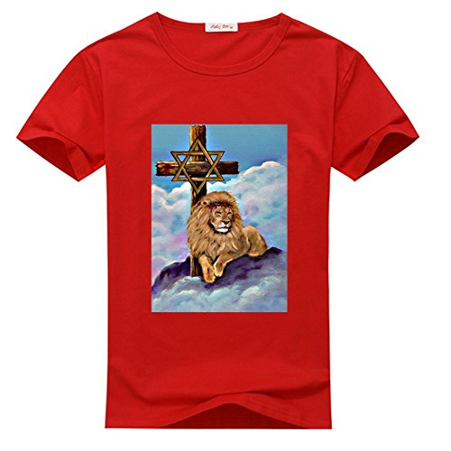 DIYHoody Lion Cross Women's T shirts, Customized Tshirts Lion Cross