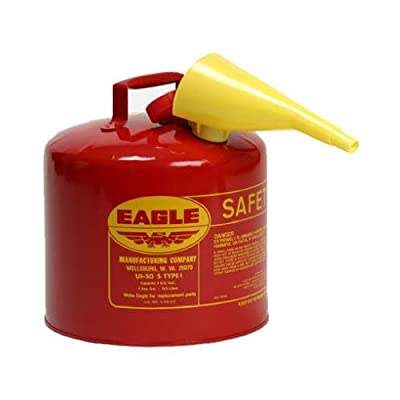 Eagle Mfg UI-50-FS Gasoline Can, Type-I, 5-Gal.