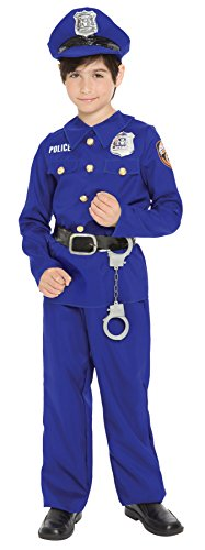 UHC Boy's Police Officer Career Day Work Theme Party Child Halloween Costume, XS (2-4)