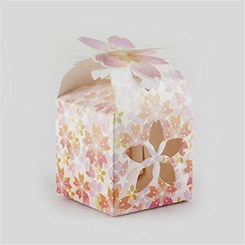 (ARAYACY Personality Creative Candy Box/with Hand Gift Hollow Flower Petals Box/Holiday Party Gift Box Decoration Box (100PCS))
