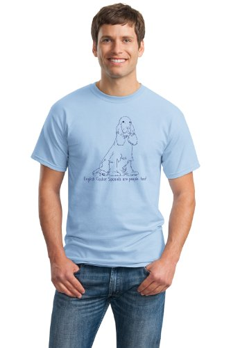 ENGLISH COCKER SPANIELS ARE PEOPLE TOO! Blue Adult Unisex T-shirt / Dog Owner & Lover Tee
