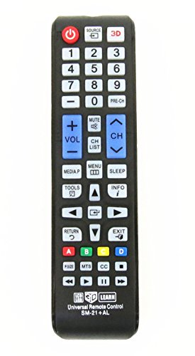 Gvirtue GSM-21+AL Universal Remote Control for Almost All Samsung Brand LCD LED HD Smart TV, AA59-00666A BN59-01178W BN59-01199F AA59-00638A AA59-00637A AA59-00594A AA59-00600A AA59-00582A