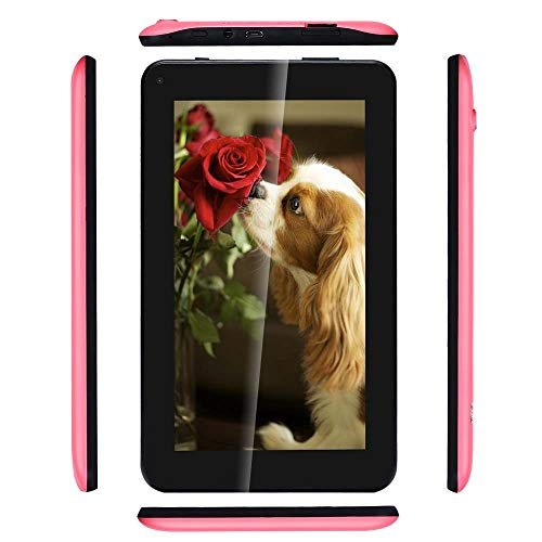Haehne 7 Inches Tablet PC – Google Android 6.0 Quad Core, 1024 x 600 Screen, 2.0MP 0.3MP Dual Camera, 1GB RAM 16GB ROM…