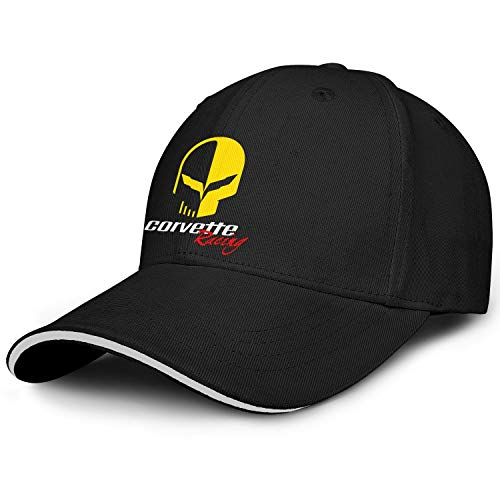 Men/Womens C7-Corvette-Racing-Logos- Plain Adjustable Peak Cap Classic Trucker Hat
