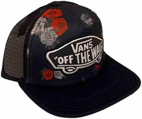 d9626ad27d5a2 Vans Off The Wall Women s Beach Girl Trucker Snapback Hat Cap - Roses