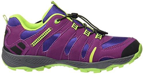 LicoFremont - zapatillas de trekking y senderismo de media caña Niñas Violett (LILA/LEMON)