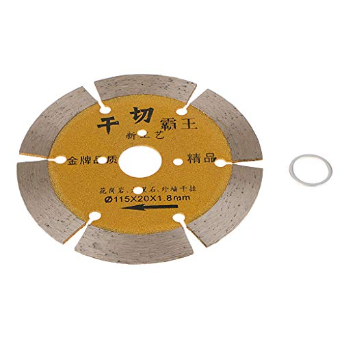 Flameer 4.5In Circular Saw Blade Segmented Diamond Dry Cutting Brick Stone New - as described+as described, 115 Dry Cut Gold