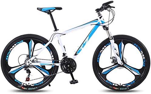 Ciclismo De Montaña,Acero De Alto Carbono Velocidad Variable Bicicletas Para Adultos,Con Suspensión Delantera Asiento Ajustable Suspensión Completa Bicicleta De Montaña 21 Velocidad Blanco E 24inch: Amazon.es: Jardín