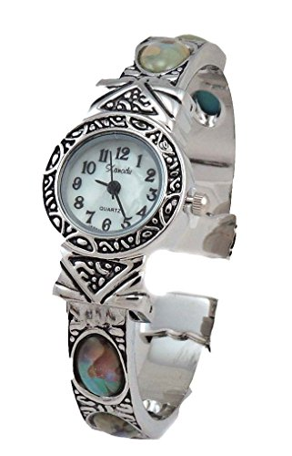 Dainty New Vintage Abalone Watch Bangle Cuff for sale  Delivered anywhere in USA