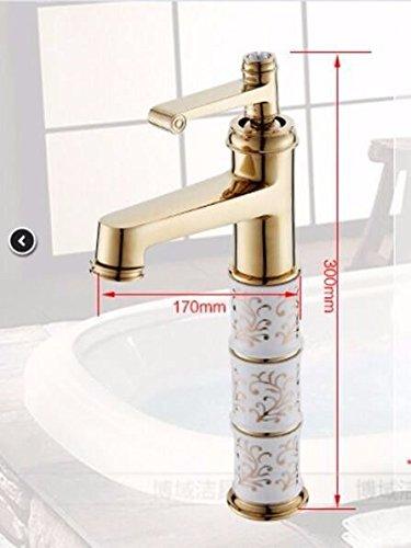 Sadasd Modern Bathroom Basin Faucet Copper Height Blue And White