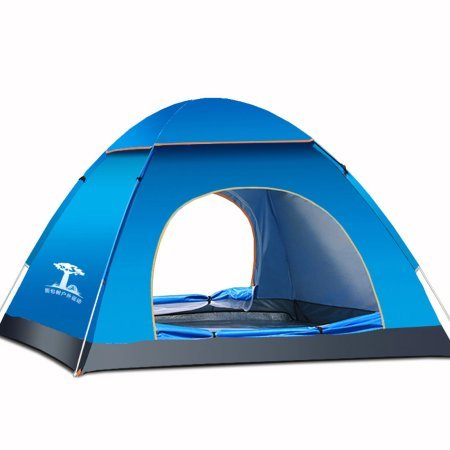 Pop-Up Camping Hiking Dome Tent Large Sun Shelter Family 3 Person MIANBAOSHU – Blue