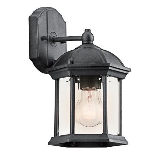 Kichler 49183BK One Light Outdoor Wall Mount