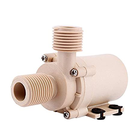 Yosoo Solar DC 12V Hot Water Circulation Pump Brushless Motor Water Pump 3M  Low Noise (12V)Selling High Quality From Wasooo