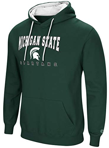 - Colosseum Michigan State Spartans NCAA Playbook Pullover Hooded Men's Sweatshirt - Green