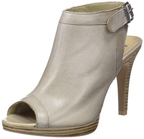 Bata Mujer 724187 Abierta Zapatos 2 de Gris con Tacón para Punta Grigio rUqrFw8x
