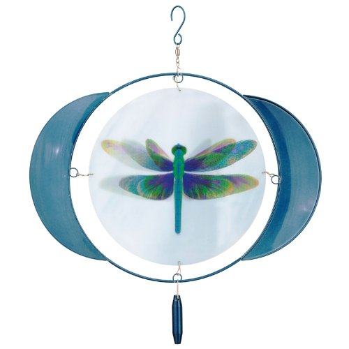 Russco lll WS119643 Animated Dragonfly Wind Spinner, Small