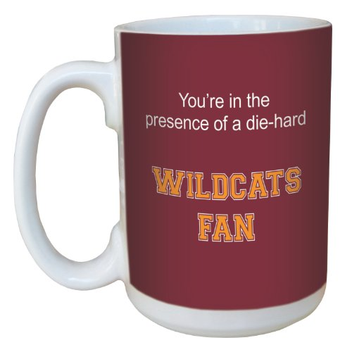 Tree-Free Greetings lm44391 Wildcats College Football Fan Ceramic Mug with Full-Sized Handle, 15-Ounce