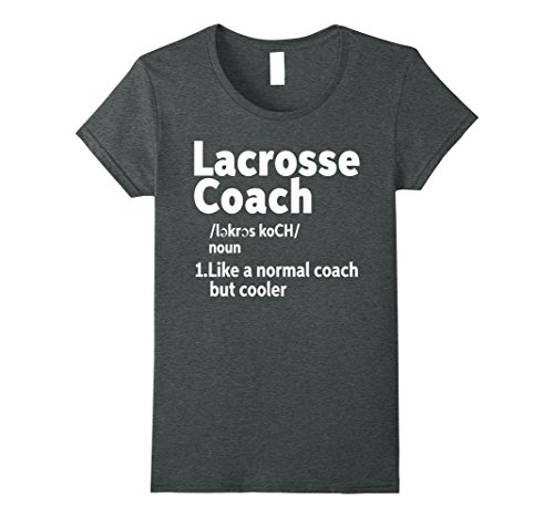 Womens Lacrosse Coach Definition T-Shirt Large Dark Heather