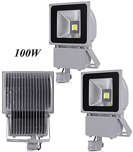 Leetop 3X 100W Blanco Frío LED Foco Proyector Luz, Foco Proyector con Iluminación LED y