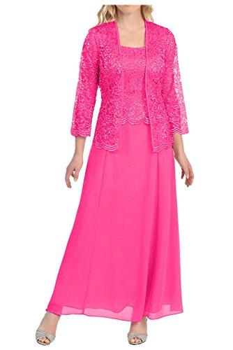 mit Pink Brautmutterkleider Rosa Braut Herrlich Dunkel Ballkleider Promkleider Knoechellang Abendkleider Spitze La Jaket mia Langarm vfU6qxxA