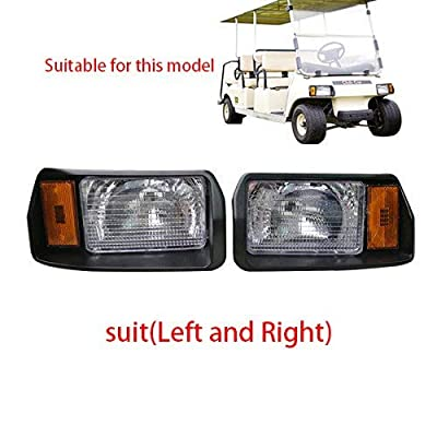 Fat Dragon GOLF Club Car DS Factory Style Passenger & Driver Headlights 101988002 101988001 (101988001 and 101988002, Suit(Left and Right)): Automotive