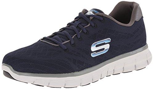 Nvgy Skechers Scarpe Uomo Blu Basse Ginnastica Synthetic da 51524 8qTrS8