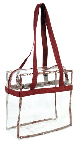Clear 12 x 12 x 6 NFL Stadium Approved Tote Bag with 35