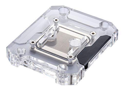 Phanteks Glacier C360a (PH-C360A_01) CPU Water Block for AMD AM4, Acrylic Cover, Digital-RGB LED Lighting, Chrome and Black Cover