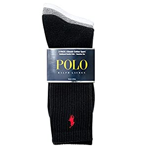 Polo Ralph Lauren men's socks Classic Cotton crew assorted 3 pairs