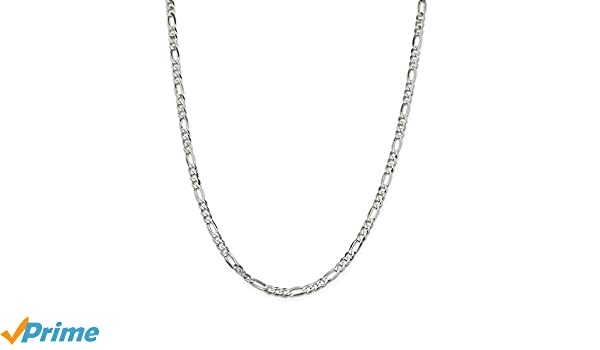 Sterling Silver 24in 4.5mm Polished Flat Figaro Necklace Chain