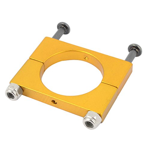 Aexit CNC Alloy Electrical equipment 20mm Tube Boom Mount Motor Clamp for DIY Quadcopter Yellow