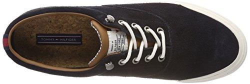 Scarpe Tommy Midnight Suede Basse Heritage Hilfiger Sneaker 403 Ginnastica da Uomo Blu IfArfBn