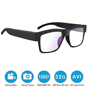 Camera glasses,MOVTEKE Digital Camera glasses HD 1080P Video Recorder 32G Micro SD Card Recording