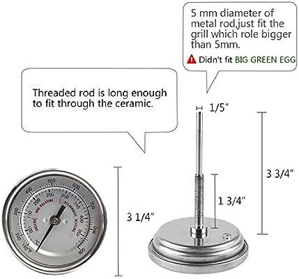 Amazon.com: Medidor de temperatura para barbacoa, resistente ...