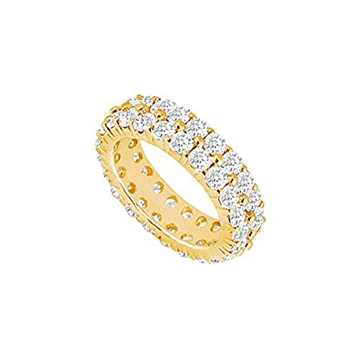 Three Carat Diamond Eternity Band In 18k Yellow Gold Third And