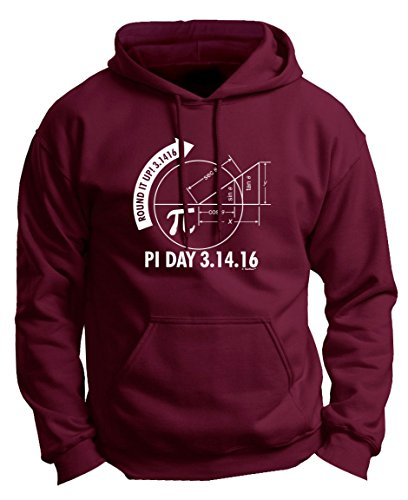 2016 Pi Day Pi Day 2016 3.1416 Round It Up Math Graph STEM Premium Hoodie Sweatshirt Large (Graph Sweater)