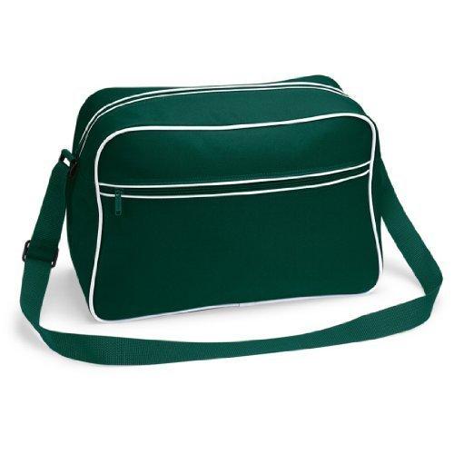 Shirtstown - Crossed Green Bag For Women - Bottlegreenwhite