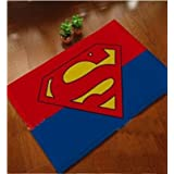 Onebest Superman carpet Mats Cover Non-Slip Machine Washable Outdoor Indoor Bathroom Kitchen Decor Rug