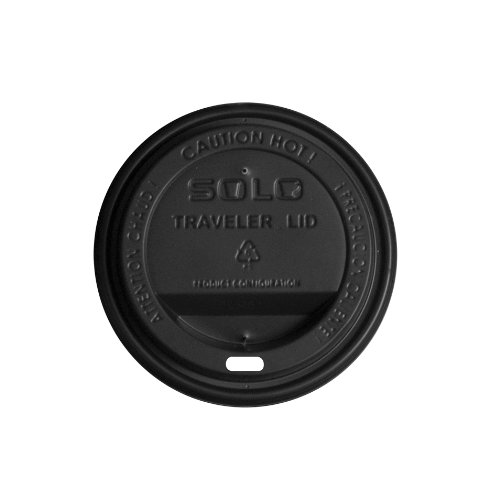 Duo Shield Case - Solo TLB20-0001 Black Traveler Plastic Lid - For 20/24 oz Duo Shield Hot Cups (Case of 1000)