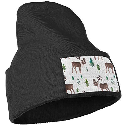 e9f2c5a71 Amazon.com: Unisex Moose in The Wild Beanie Skull Caps Knit Hat for ...